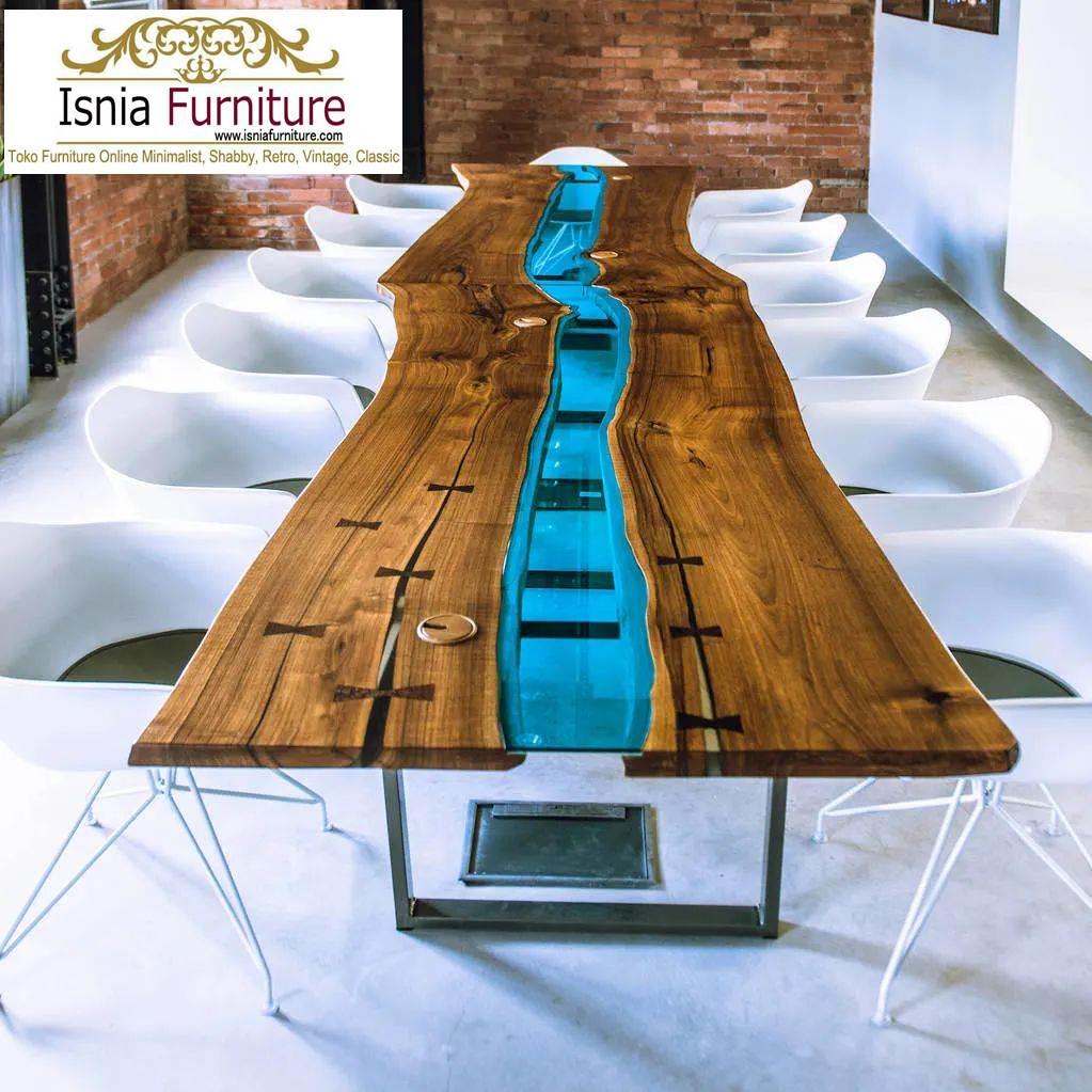 meja-makan-trembesi-resin-antik Meja Makan Trembesi Terlaris 2020 Kombinasi Resin