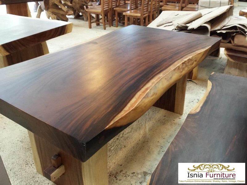meja-makan-tremebsi-kaki-kayu Jual Kayu Trembesi Meja Solid