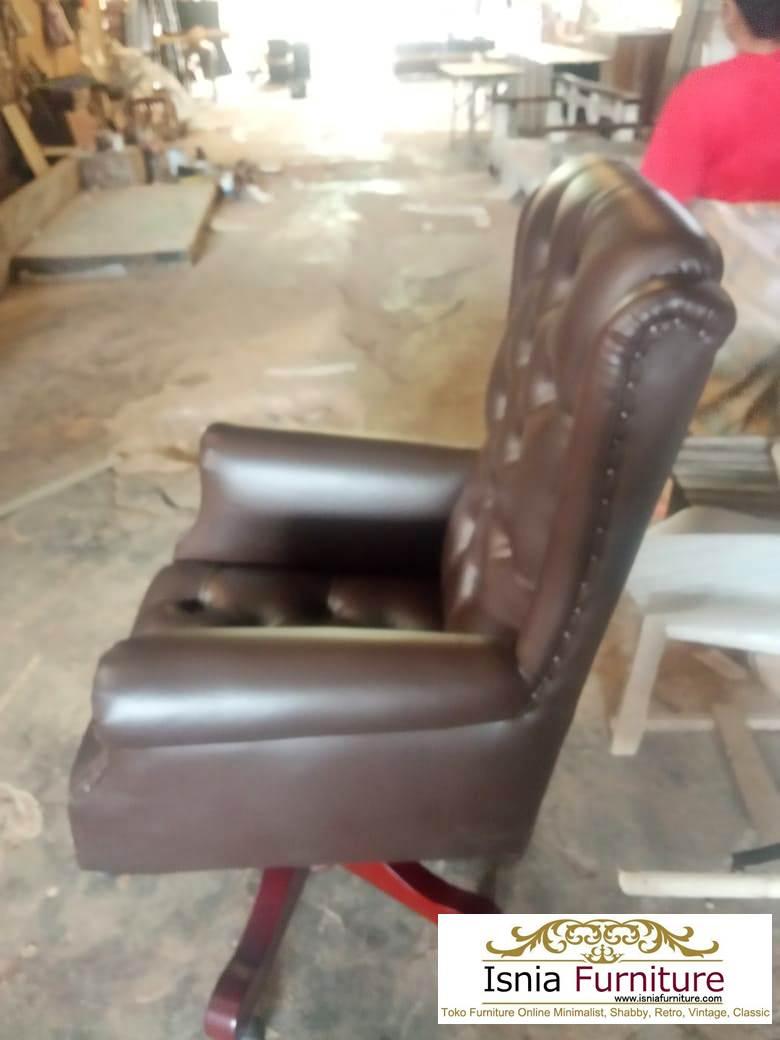 kursi-kerja-kayu-jati Jual Kursi Kerja Kayu Jati Model Putar Untuk Kantor
