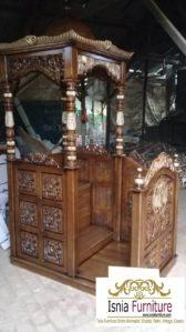 Jual Mimbar Masjid Jepara Ukir Jati Model Atap Kubah