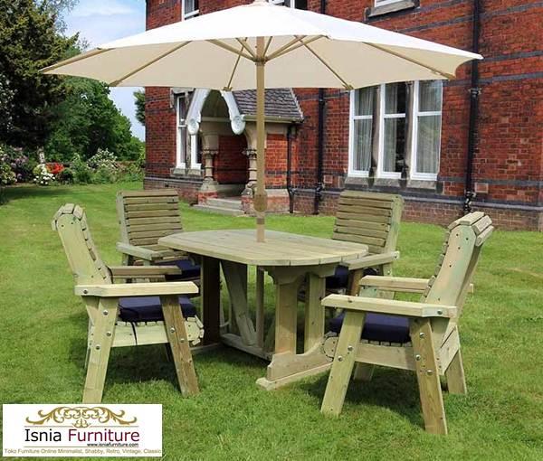 meja-cafe-bundar-outdoor Jual Set Meja Cafe Outdoor Kayu Jati Desain Terpopuler