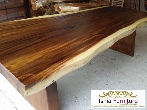 meja-trembesi-besar-tebal Meja Kayu Besar Untuk Makan Bahan Trembesi Utuh