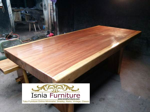 suar-dining-table Furniture Kayu Trembesi Solid