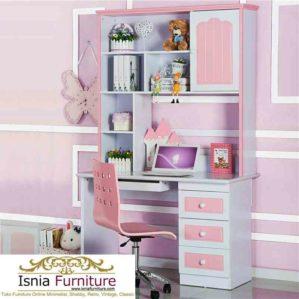 Meja Belajar Anak Pink Putih Bandung
