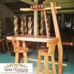 Set Meja Cafe Bar Kayu Trembesi