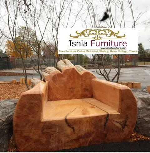 kursi-batang-kayu Kursi dari Batang Kayu Utuh Harga Murah