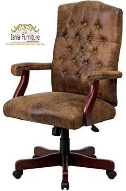kursi kayu kantor minimalis