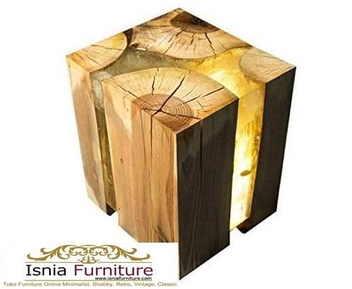 kursi-resin-kayu-balok-unik-terlaris Jual Kursi Resin Kayu Balok Harga Terjangkau Kekinian