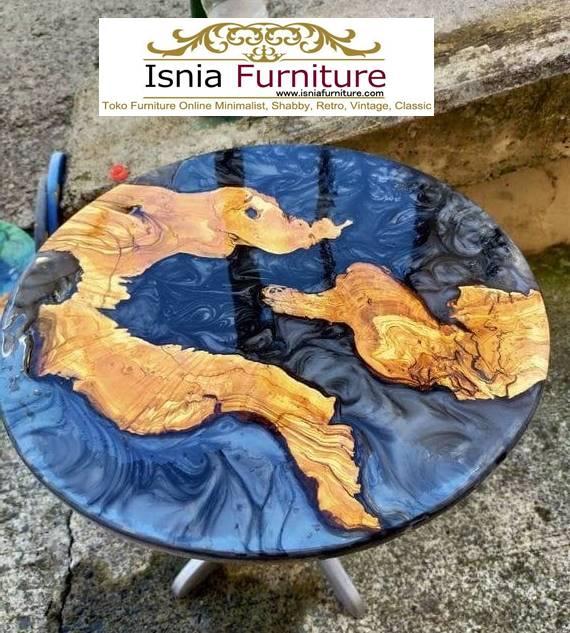 meja-resin-menyala-bentuk-bulat-minimalis-solid Jual Meja Resin Menyala Harga Murah Terpopuler