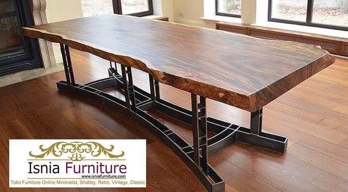 meja-trembesi-besar-langka-cocok-untuk-meja-makan Jual Meja Trembesi Besar Harga Langsung Dari Pengrajin