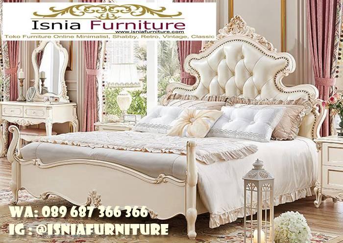tempat-tidur-mewah-ukiran-emas-cat-duco-putih Jual Tempat Tidur Mewah Ukiran Duco Putih Terlaris
