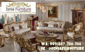 Sofa Mewah Warna Gold Cat Duco Kekinian Terlaris