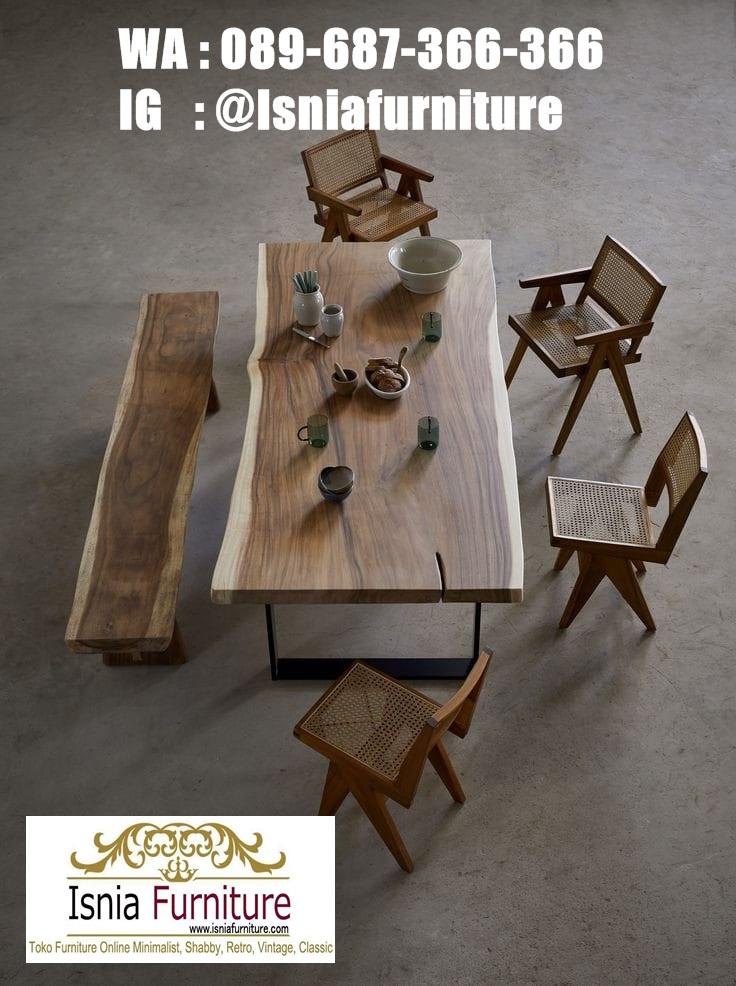 meja-makan-trembesi-utuh-tebal-solid Jual Meja Makan Trembesi Utuh Langsung Dari Pembuat